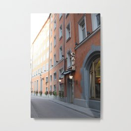 European Cafe Metal Print
