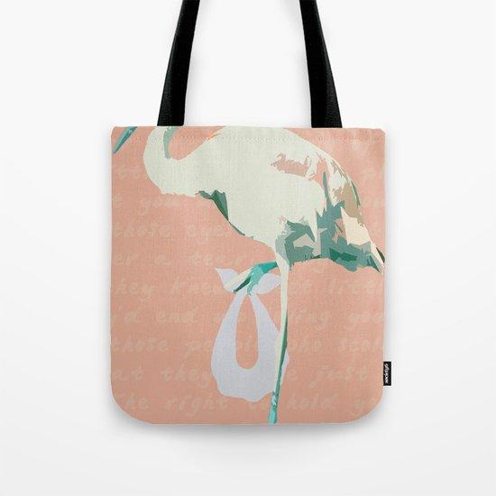 Baby Mine - mint/orange sherbet Tote Bag