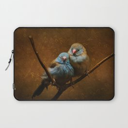 Male and Female Cordon Bleu Canaries Laptop Sleeve