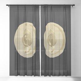 Black Gold Moon and Stars #1 #decor #art #society6 Sheer Curtain