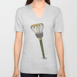 Alice Flower Unisex V-Neck