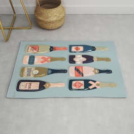 French Champagne Collection – Navy & Coral Rug