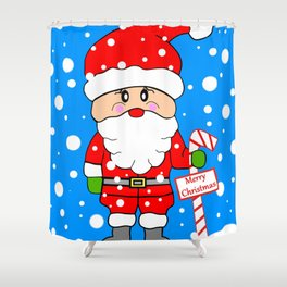 Merry Christmas Santa Shower Curtain