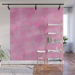 Pink Bubbles 3 Wall Mural