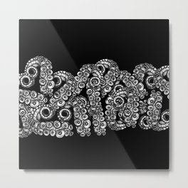 Black Tentacles Metal Print