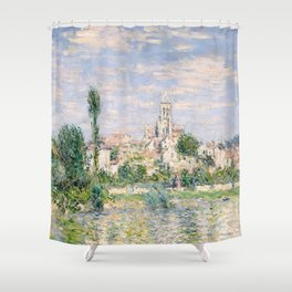 Vetheuil in Summer 1880 by Claude Monet Shower Curtain