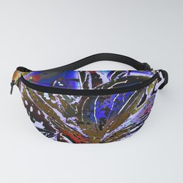Vivid Foliage in blue Fanny Pack