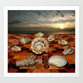 On dry seashell conference Art Print