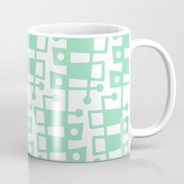 Mid Century Modern Abstract 213 Mint Green Coffee Mug