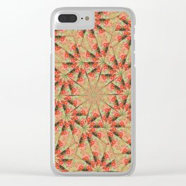 Beautiful day lily kaleidoscope Clear iPhone Case