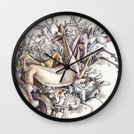 Twisted Menagerie Wall Clock