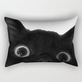 Here's lookin' at mew Rectangular Pillow