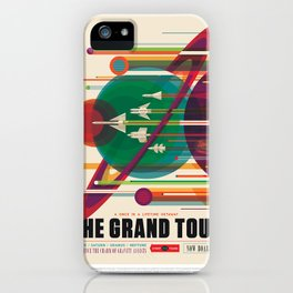Grand Tour - NASA Space Travel Poster iPhone Case