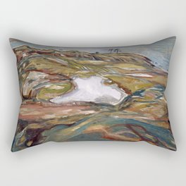 Edvard Munch - Coastal Landscape Rectangular Pillow