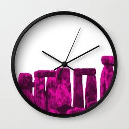 Stonehenge Magenta jGibney The MUSEUM Society6 Gifts Wall Clock