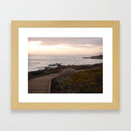 On the right path - Wildflowers bloom for those in love Framed Art Print