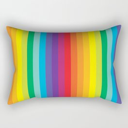 Rainbow Stripes Rectangular Pillow