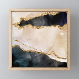 Stormy days Framed Mini Art Print