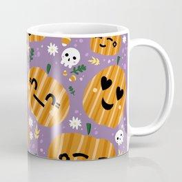 Emoji Pumpkins Pattern Coffee Mug