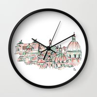 rome Wall Clocks featuring Rome by Ursula Rodgers