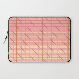 grid check layer_pink, biege Laptop Sleeve