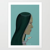 goddess Art Prints featuring Goddess by Tagas