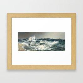 The Much Resounding Sea Thomas Moran Framed Art Print