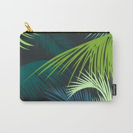 Palm Leaf, Tropical Leaves Carry-All Pouch