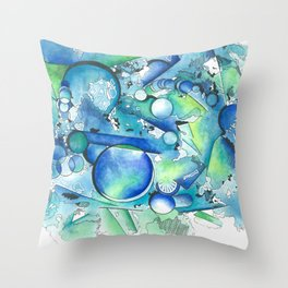 abstract light blue Throw Pillow