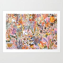 Bug-Catching Art Print