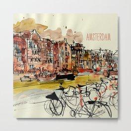 European cities - Amsterdam Metal Print