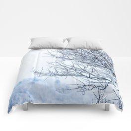 Snowy tree Comforters