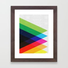 Abstract and minimalist pattern Framed Art Print