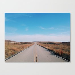 Good road for travelin' on Canvas Print
