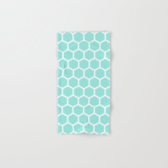 Honeycomb Tiffany Blue Hand & Bath Towel