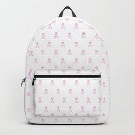 LIGHT PINK SKULLS ALL OVER PRINT LARGE Backpack