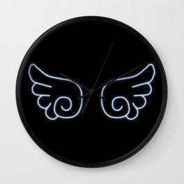 Chibi Angel Wings Wall Clock