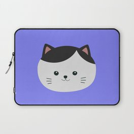 Cat with white fur and black hair Laptop Sleeve