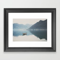 boat reflections ... Framed Art Print