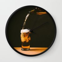 beer Wall Clocks featuring Beer by Floyd Triangle
