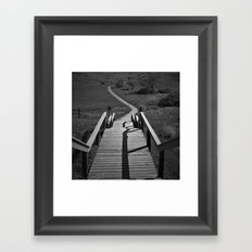 Coulee Stairs Framed Art Print