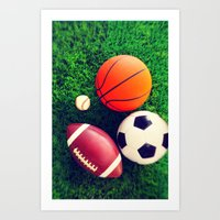 sports Art Prints featuring SPORTS by Ylenia Pizzetti
