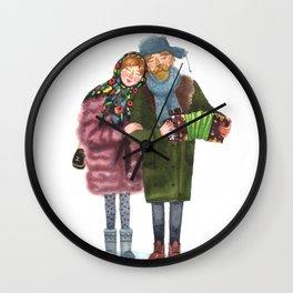 Russian funky couple Wall Clock