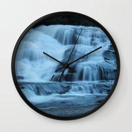 Blue Falls Wall Clock