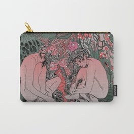 Two Sisters I: Peacock & Melon Carry-All Pouch