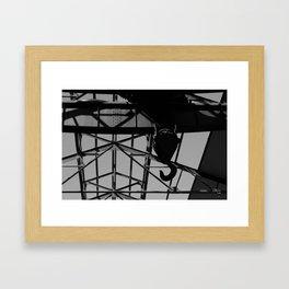 Black Hook Framed Art Print