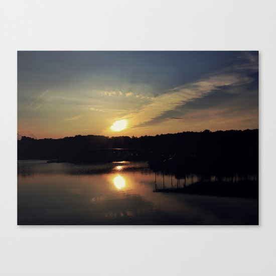Sunset, Lake lanier Canvas Print