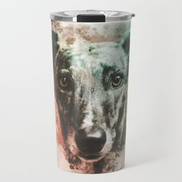 Greyhound Digital Watercolor Painting Travel Mug