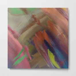 Abstract Emotion Metal Print