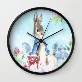 Hoppy The Bunny Wall Clock